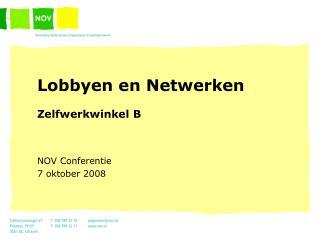 Lobbyen en Netwerken Zelfwerkwinkel B