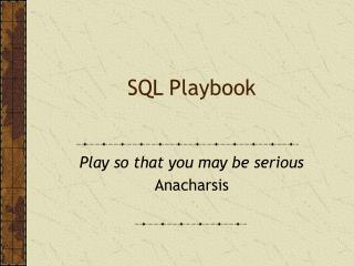 SQL Playbook