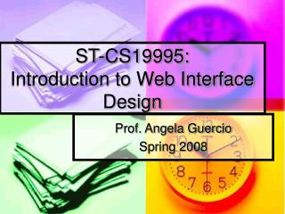 ST-CS19995: Introduction to Web Interface Design