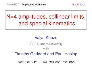 Valya Khoze   (IPPP Durham University) with Timothy Goddard and Paul Heslop
