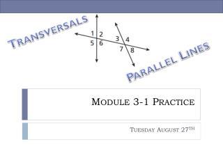 Module 3-1 Practice