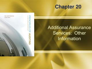 Additional Assurance Services:  Other Information