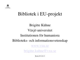 Bibliotek i EU-projekt