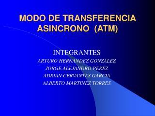 MODO DE TRANSFERENCIA ASINCRONO  ATM