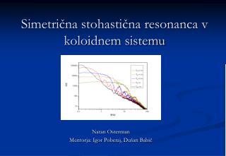 Simetrična stohastična resonanca v koloidnem sistemu