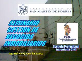 SEMINARIO GESTION DE  NEGOCIOS  INMOBILIARIOS
