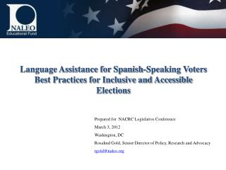 Language Assistance for Spanish-Speaking Voters