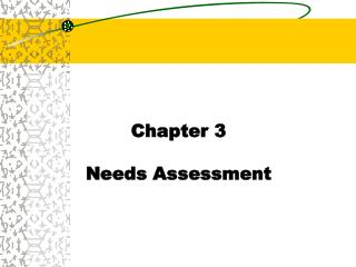Chapter 3 Needs Assessment