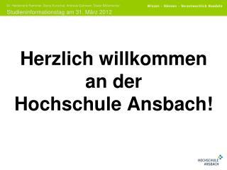 Herzlich willkommen an der Hochschule Ansbach!