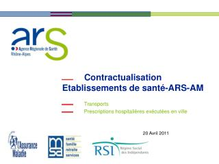 Contractualisation Etablissements de sant�-ARS-AM