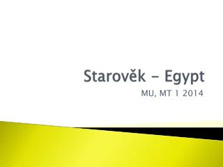 Starověk - Egypt
