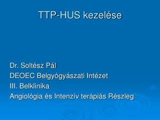 TTP-HUS kezelése