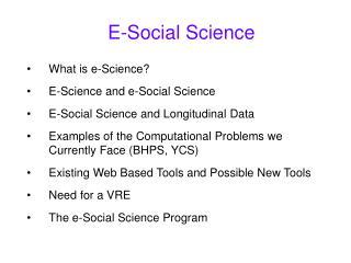 E-Social Science