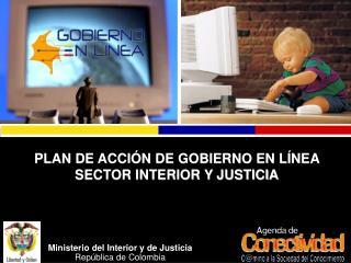 Ppt rep blica de colombia ministerio del interior y de for Ministerio del interior antecedentes