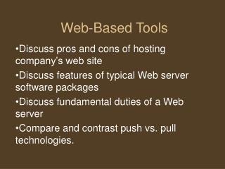Web-Based Tools