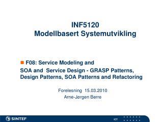 INF5120 Modellbasert Systemutvikling