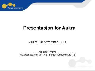 Presentasjon for Aukra