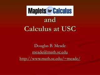and Calculus at USC