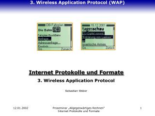 3. Wireless Application Protocol (WAP)