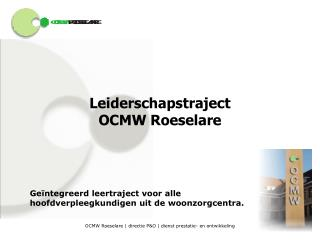 Leiderschapstraject OCMW Roeselare