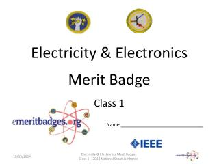 Electricity & Electronics Merit Badge Class 1