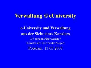 Verwaltung @eUniversity