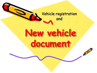 New  vehicle document