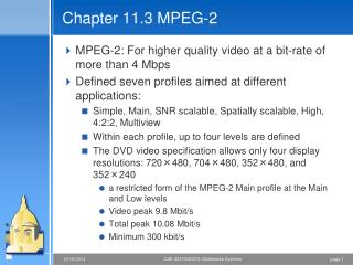Chapter 11.3 MPEG-2