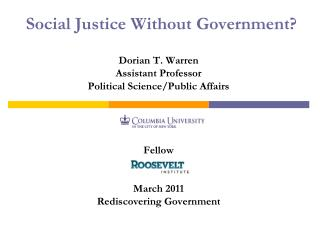 Social Justice Without Government?