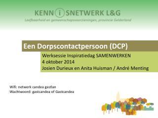Een Dorpscontactpersoon (DCP)