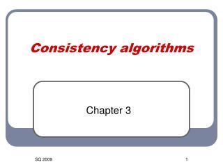 Consistency algorithms