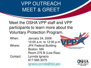 VPP OUTREACH  MEET & GREET