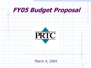 FY05 Budget Proposal