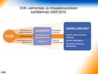 VOK- valmentaja- ja ohjaajakoulutuksen  kehittäminen 2005-2010