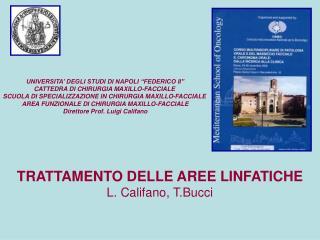 TRATTAMENTO DELLE AREE LINFATICHE L. Califano, T.Bucci