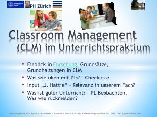 Classroom Management  (CLM) im  Unterrichtspraktium