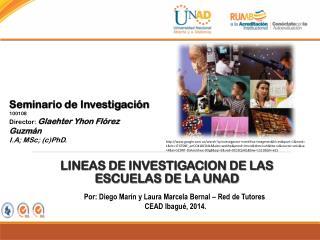 LINEAS  DE  INVESTIGACION DE LAS ESCUELAS DE LA UNAD