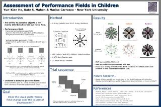 Assessment of Performance Fields in Children