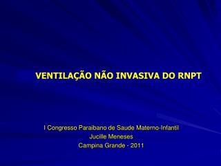 I Congresso Paraibano de  Saude  Materno-Infantil Jucille  Meneses Campina Grande - 2011