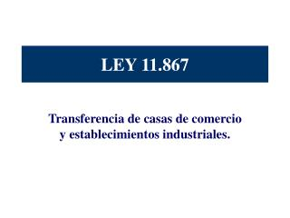 LEY 11.867
