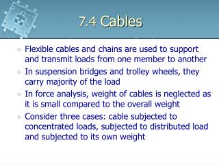 7.4  Cables
