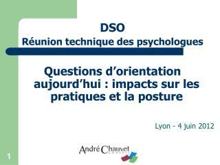 DSO  Réunion technique des psychologues