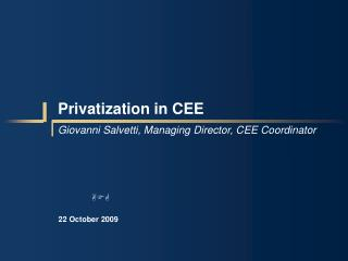 Privatization in CEE