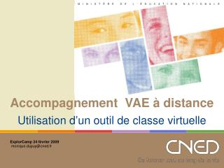 Accompagnement  VAE � distance