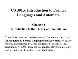 CS 3813: Introduction to Formal Languages and Automata