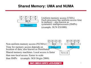 Shared Memory: UMA and NUMA
