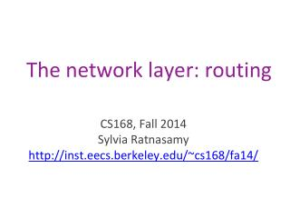 The  network  layer: routing