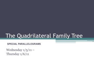The Quadrilateral Family Tree