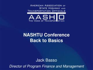 NASHTU Conference Back to Basics