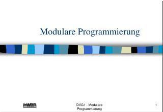 Modulare Programmierung
